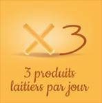 3 produits laitiers par jour