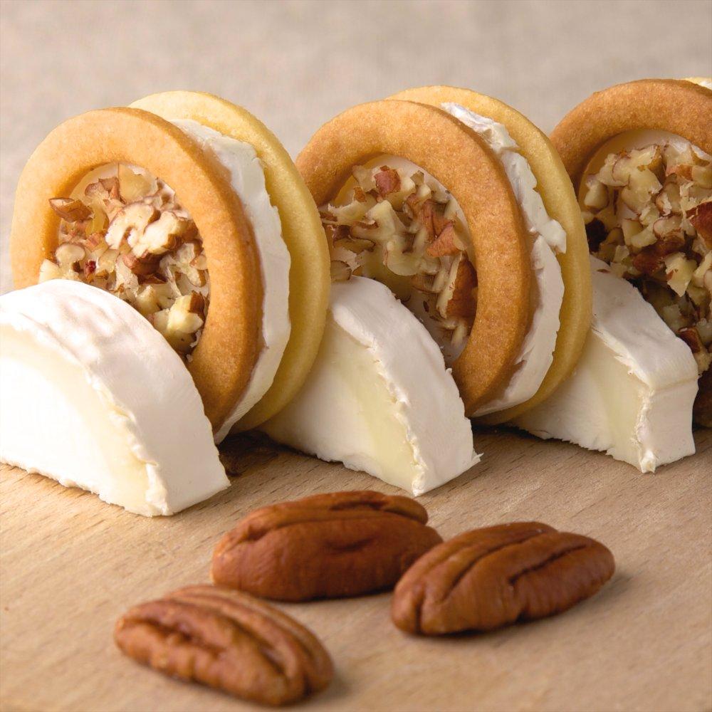 Cookies aux noix de Pecan et bûche fondante de chèvre Président