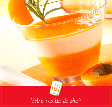 Crème douce abricot, vanille et romarin