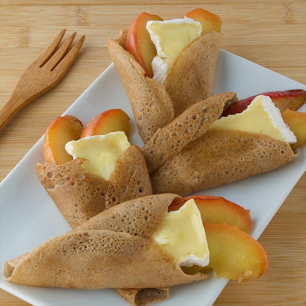 Crêpes Camembert Président et pommes