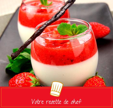 Pannacotta à la fraise