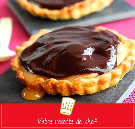 Tartelettes au chocolat caramel