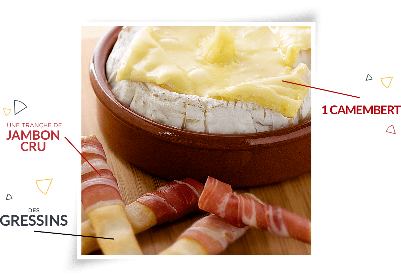Camembert en fondue de gressin