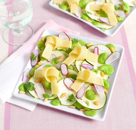 Salade de courgette au Cœur de Meule
