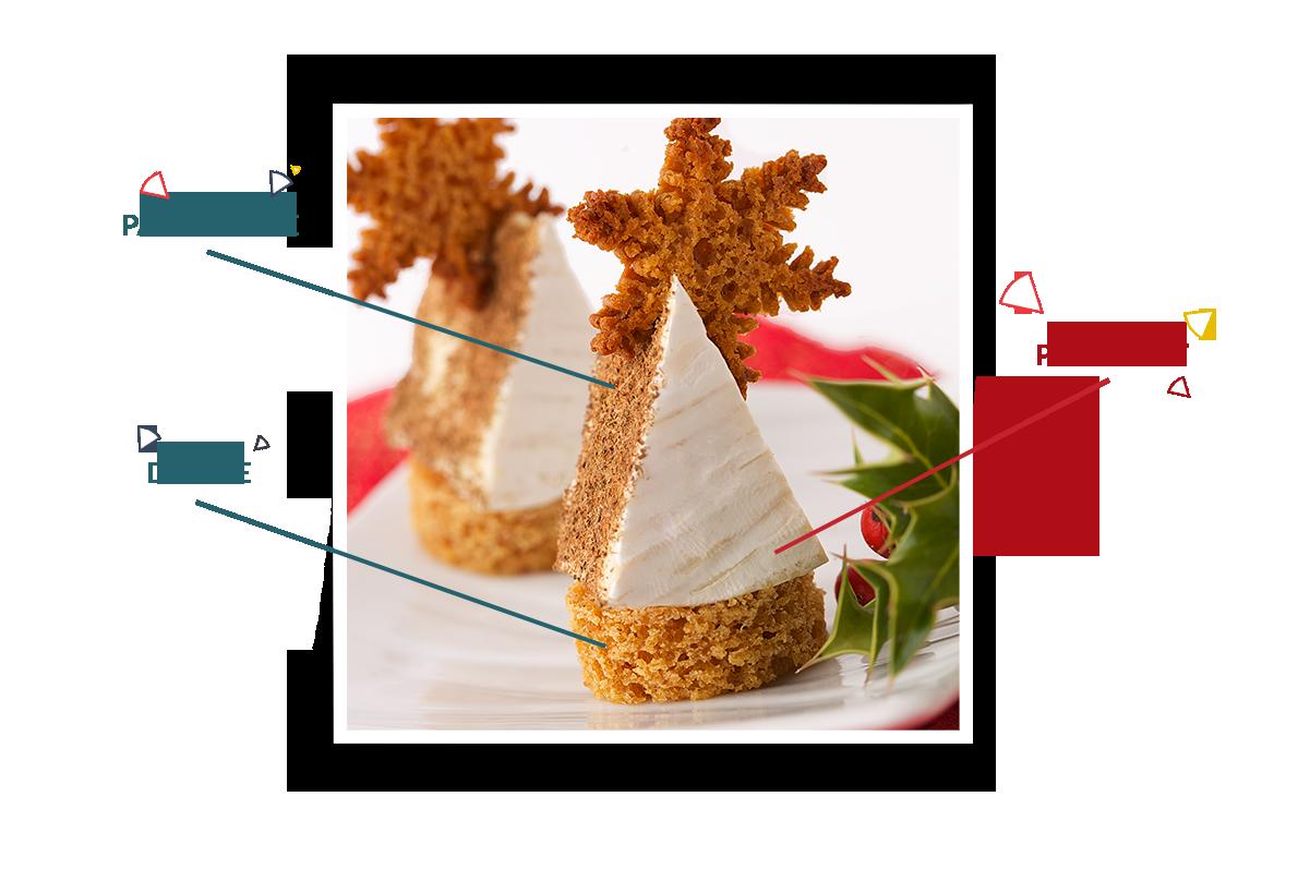Camembert Président aux pain d'épices et Santa Claus