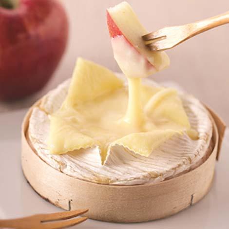 La fondue camembert aux pommes