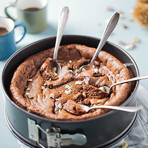 Gâteau chocolat et marron à la cuillère