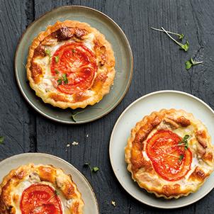 Minis quiches au thon et aux tomates