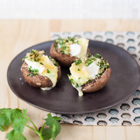 Champignons farcis au camembert